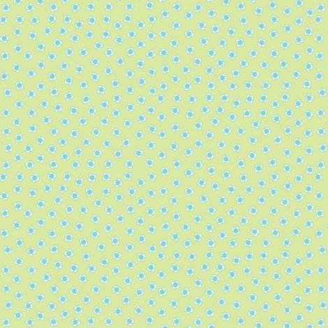 Ditsy Square Circles Yellow/Lt Blue/Green-ch fabric by jillstraw on Spoonflower - custom fabric