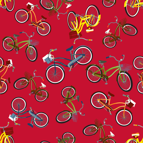 CRUISER on RED fabric by deesignor on Spoonflower - custom fabric