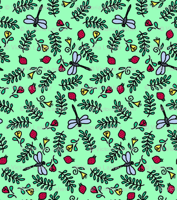 Dragonflies and Lady Bugs