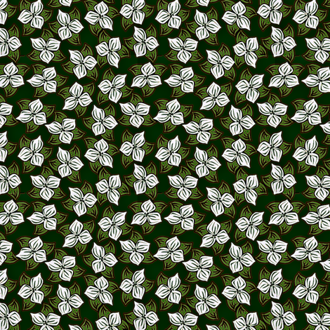 Trilliated Christmas fabric by glimmericks on Spoonflower - custom fabric