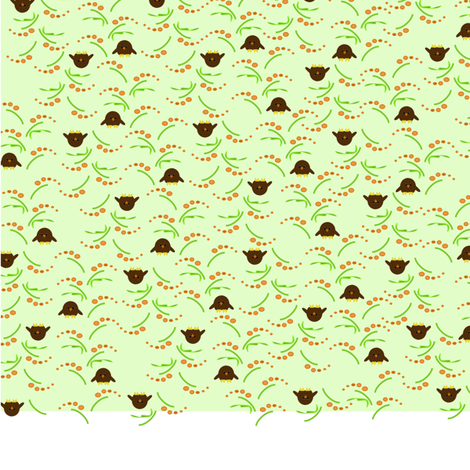 ditsy_owls_a fabric by salmonalley on Spoonflower - custom fabric
