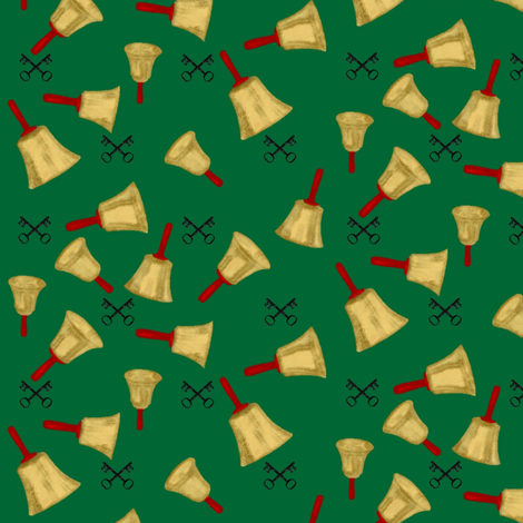 Seven Christmas Bells fabric by veritybrown on Spoonflower - custom fabric