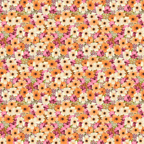 Busy in Autumn fabric by inscribed_here on Spoonflower - custom fabric