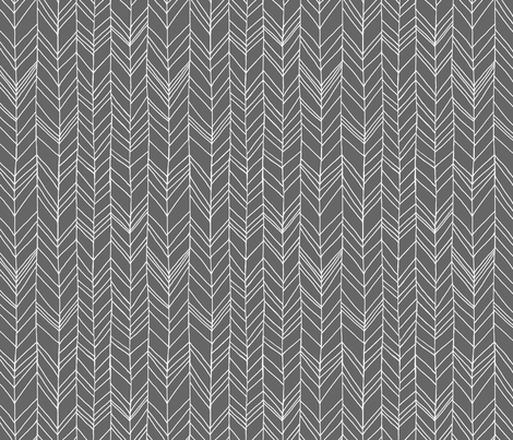 Featherland Gray/White fabric - leanne - Spoonflower