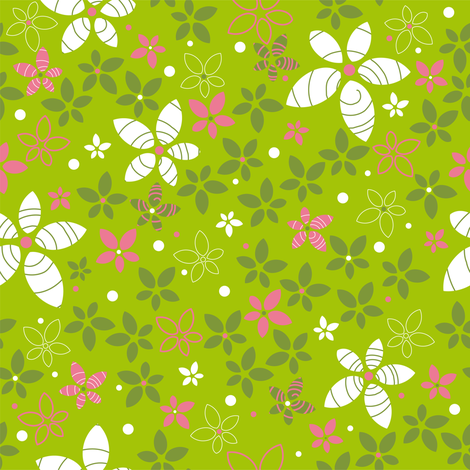 Ditsy_flowers fabric by cassiopee on Spoonflower - custom fabric