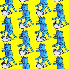 Cat and Mouse Games (blue toys on yellow)