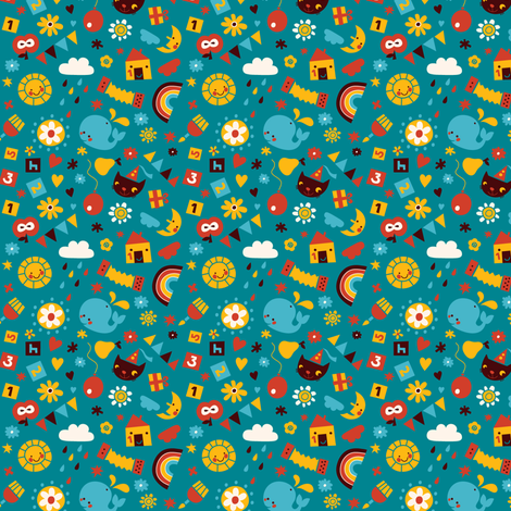 Happy Birthday! fabric by bora on Spoonflower - custom fabric