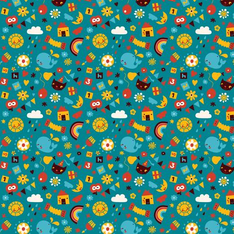Happy Birthday! fabric by bora on Spoonflower - custom fabric