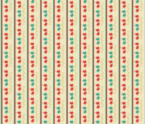 Figured stripe in Christmas colors fabric by su_g on Spoonflower - custom fabric