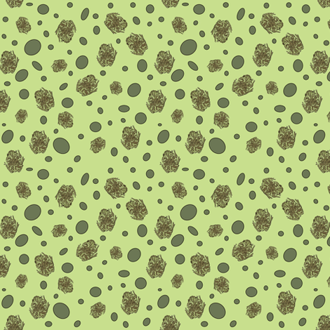 Mossy Tree Frog - Ditsy fabric by ccreechstudio on Spoonflower - custom fabric