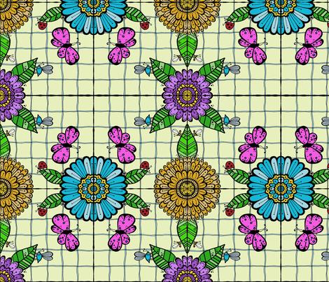 Tiled Garden - #2 fabric by toni_elaine on Spoonflower - custom fabric