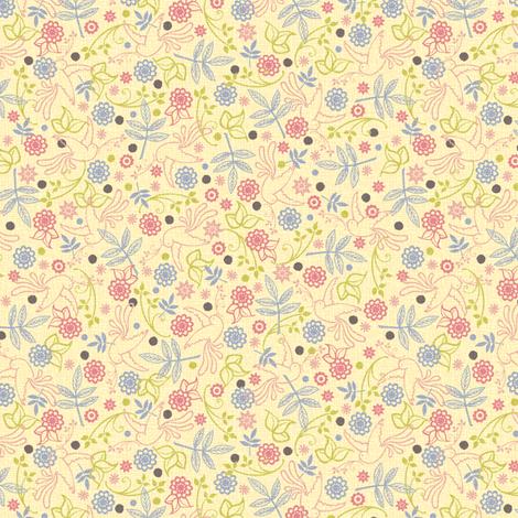 Marie Antoinette (ditsy print – light) fabric by jennartdesigns on Spoonflower - custom fabric