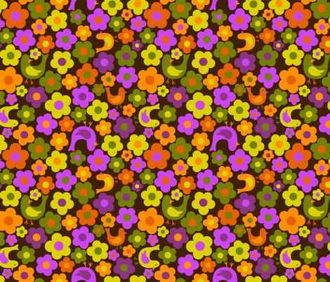 tweety bird dot flower 2 fabric by collectivesurfacellc on Spoonflower - custom fabric