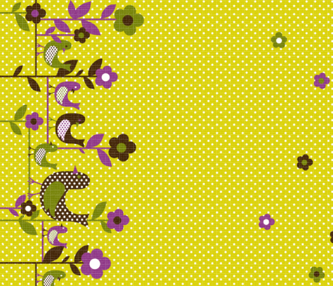 "tweety tweet border 54"" wide chartreuse fabric by collectivesurfacellc on Spoonflower - custom fabric"