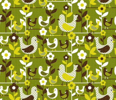 tweety tweet - purple and 25% smaller than the original fabric by collectivesurfacellc on Spoonflower - custom fabric