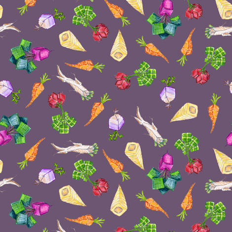 baby square roots on Hypatian violet fabric by weavingmajor on Spoonflower - custom fabric