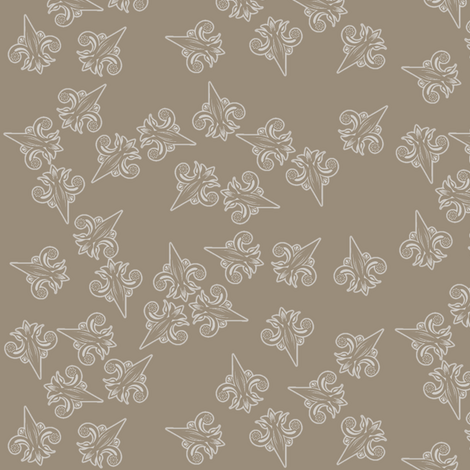 fleurdelis_confusion_reigns in stone fabric by glimmericks on Spoonflower - custom fabric
