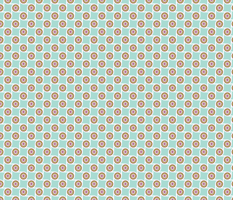 Scrolls Aqua fabric by freshlypieced on Spoonflower - custom fabric