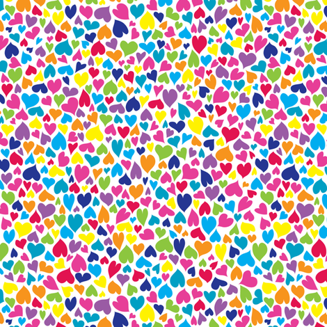 lilah loves hearts fabric by ghennah on Spoonflower - custom fabric