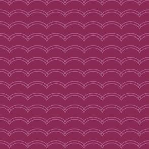 Scallop Stripe Purple