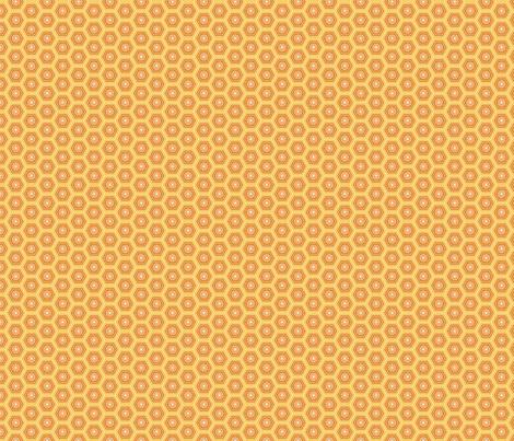 Hexies Marigold fabric by freshlypieced on Spoonflower - custom fabric