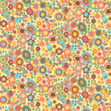 Itsy Bitsy Ditsy fabric by beebumble on Spoonflower - custom fabric