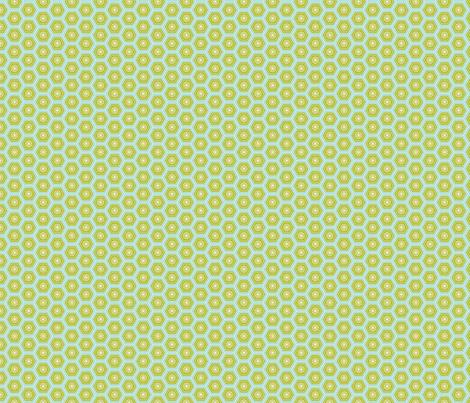Hexies Lime fabric by freshlypieced on Spoonflower - custom fabric