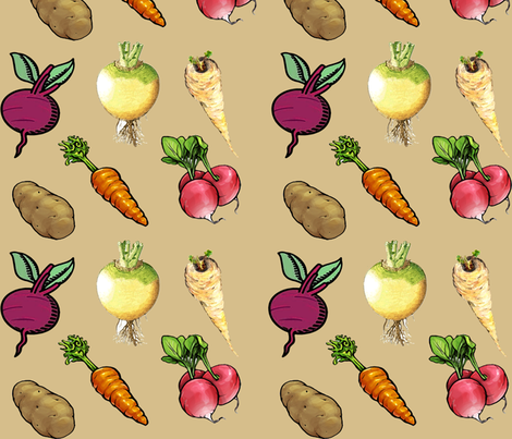 vegetable_stew fabric by springfever on Spoonflower - custom fabric