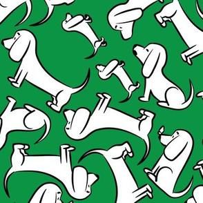 Doodle Bassets - Green