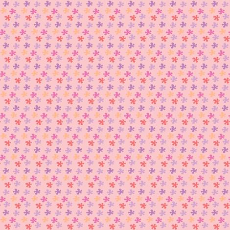Flowers in pink fabric by sawabona on Spoonflower - custom fabric