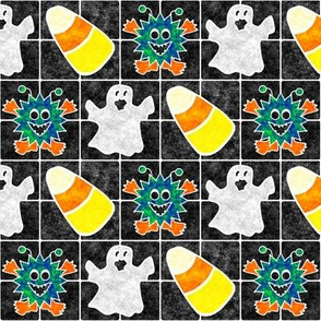Marble Mosaic Spooky Tiles
