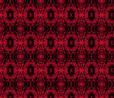 Vintage Bordello Red fabric by karendel on Spoonflower - custom fabric