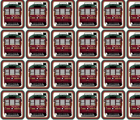 City Circle Tram Patches fabric by upcyclepatch on Spoonflower - custom fabric