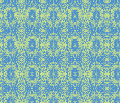 Blue Green fabric by karendel on Spoonflower - custom fabric