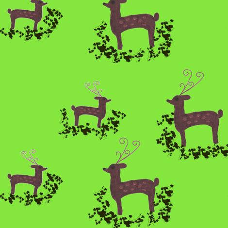 Deer Christmas fabric by angelsgreen on Spoonflower - custom fabric