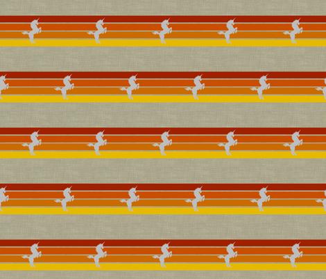 Striped Unicorn fabric by platosquirrel on Spoonflower - custom fabric