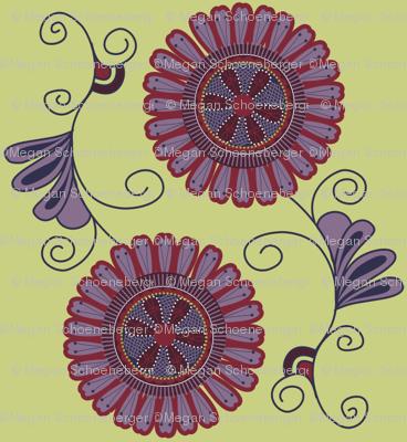 Purple Flowers simple