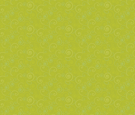 Swirl Lime fabric by freshlypieced on Spoonflower - custom fabric