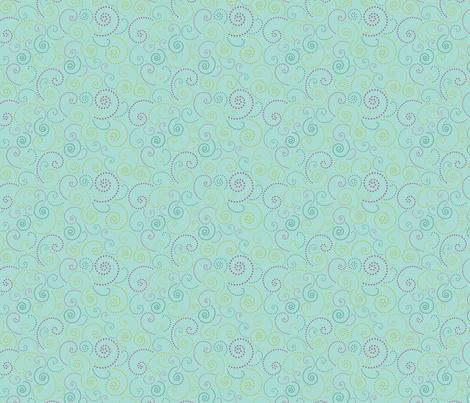 Swirl Aqua fabric by freshlypieced on Spoonflower - custom fabric