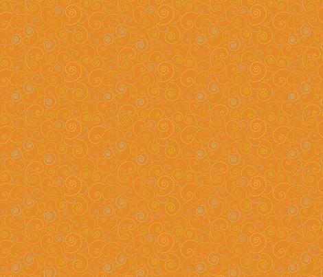 Swirl Orange fabric by freshlypieced on Spoonflower - custom fabric