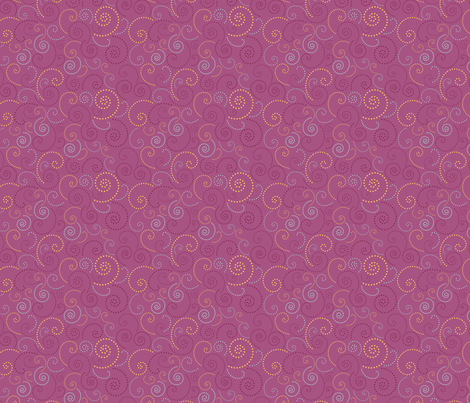Swirl Purple fabric by freshlypieced on Spoonflower - custom fabric