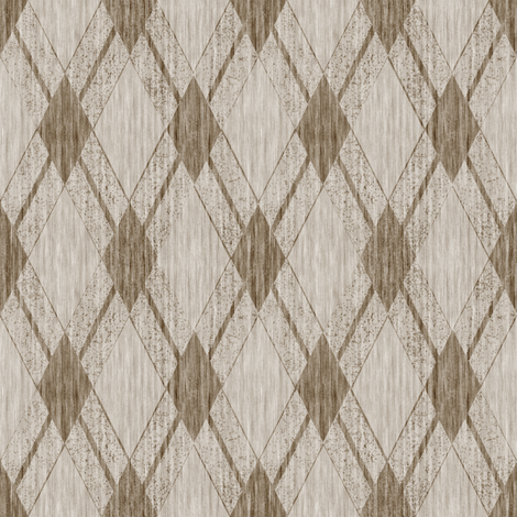 French Linen Diamonds - Natural fabric by kristopherk on Spoonflower - custom fabric