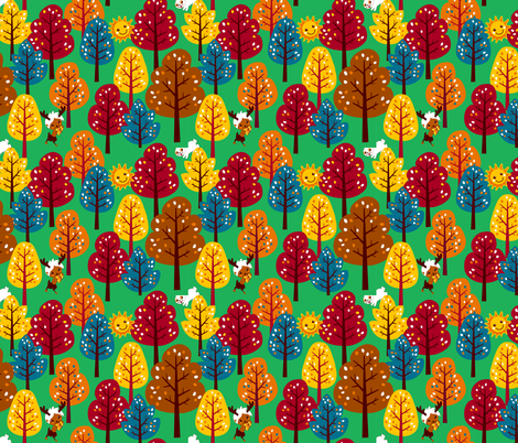 A magical forest fabric by irrimiri on Spoonflower - custom fabric