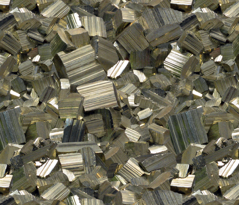 Golden Iron Pyrite fabric by quietmorning on Spoonflower - custom fabric