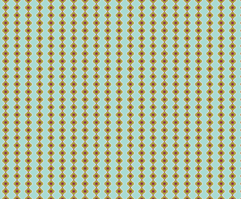 Flower Stripe Aqua fabric by freshlypieced on Spoonflower - custom fabric