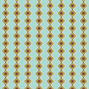 Flower Stripe Aqua