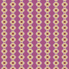Flower Stripe Purple