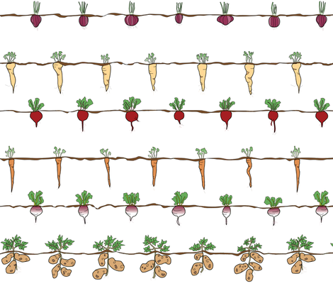 A Garden of Roots fabric by curiousjoan on Spoonflower - custom fabric