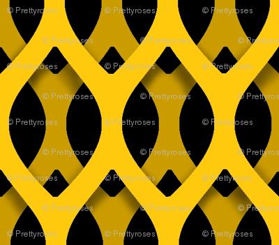 Golden Latticework Fabric