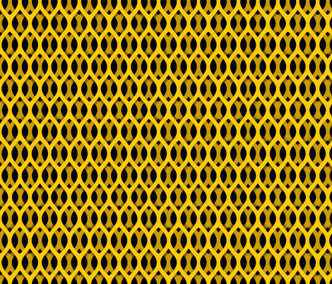 Golden Latticework Fabric fabric by prettyroses on Spoonflower - custom fabric